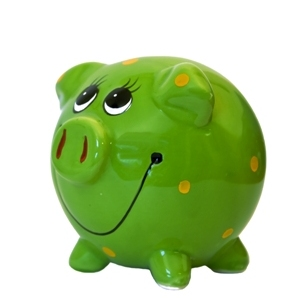 green piggy bank financial wellness